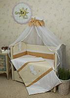 """Комплект постільної білизни для новонароджених """"Рандеву"""" Greta Lux з 7 предметів"""