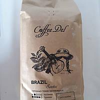 Кофе в зернах Бразилия Сантос Coffe Del 1кг