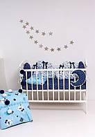 Набор детского постельного белья  - сине с подушкой и одеялом -голубого цвета - Сладкие сны