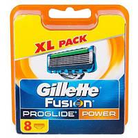 Gillette Fusion Proglide Power 8 шт. в упаковке сменные кассеты для бритья (лезвия джилет)
