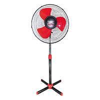 Напольный трехлопастной вентилятор VILGRAND VF400 красный-черный (45 Вт)