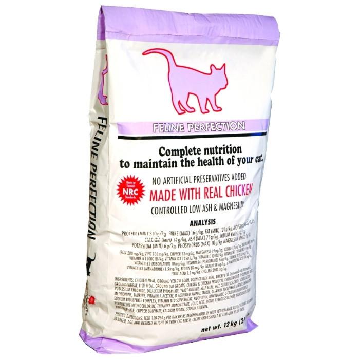 К9 Фелино Перфекшн Feline Perfection сухой корм для кошек профилактика мочекаменной болезни, 12 кг