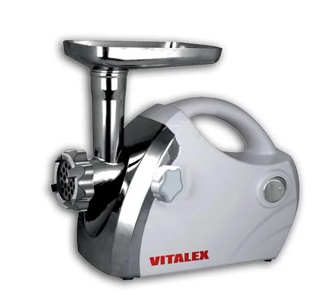 Мясорубка Vitalex VL-5300 фукнкция реверс качественная бытовая белая виталекс 5300, фото 2
