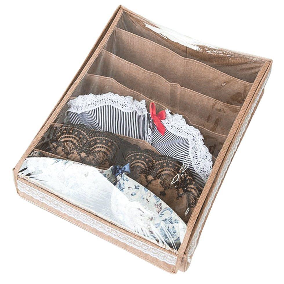 Коробочка для бюстиков с крышкой Organize бежевый Beg-Bst-Kr SKL34-190411