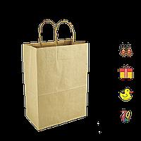 Бумажный пакет крафтовый с кручеными ручками 180*85*220мм (Ш.Г.В) Пл 70г Нагр 3кг (687)
