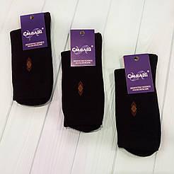 Мужские классические демисезонные носки Смалий/ Рубежное 25, черный