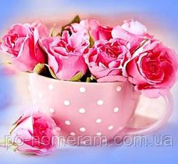 Алмазная вышивка Гулівер країна Розовые розы (ME21360) (GU_188704) 30 х 30 см