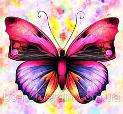 Набор алмазная вышивка Гулівер країна Сиреневая бабочка (ME21195) (GU_188713) 30 х 30 см