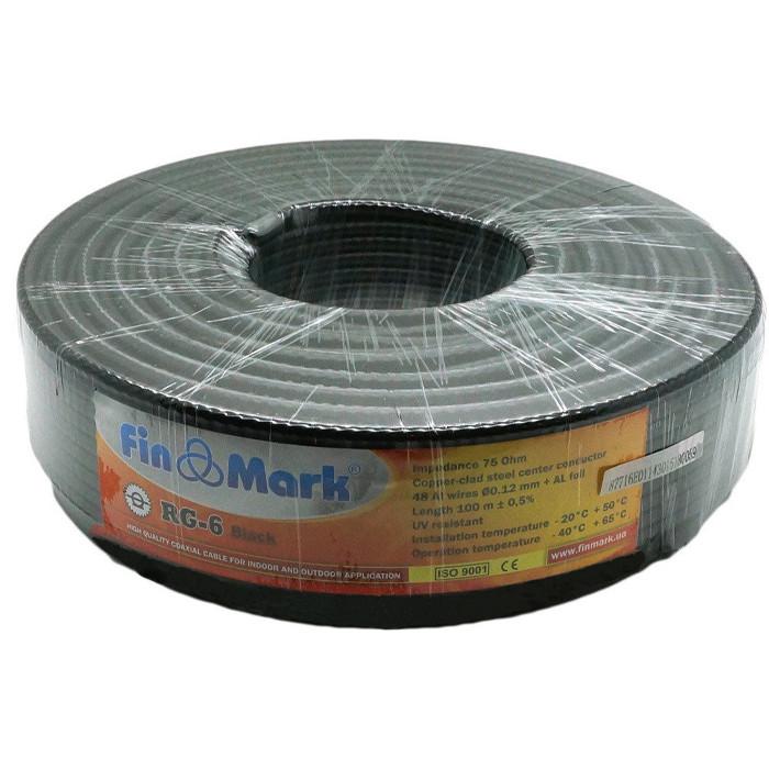 Кабель коаксиальный FinMark RG6 black 100м SKL31-150993