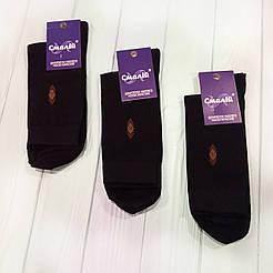 Мужские классические демисезонные носки Смалий/ Рубежное 31, черный