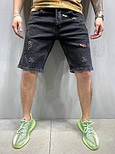 Мужские джинсовые шорты летние черныеРазмер 31,32,36)