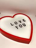 Ночник светильник Сердце Light up message board с посланием SKL32-189995, фото 2