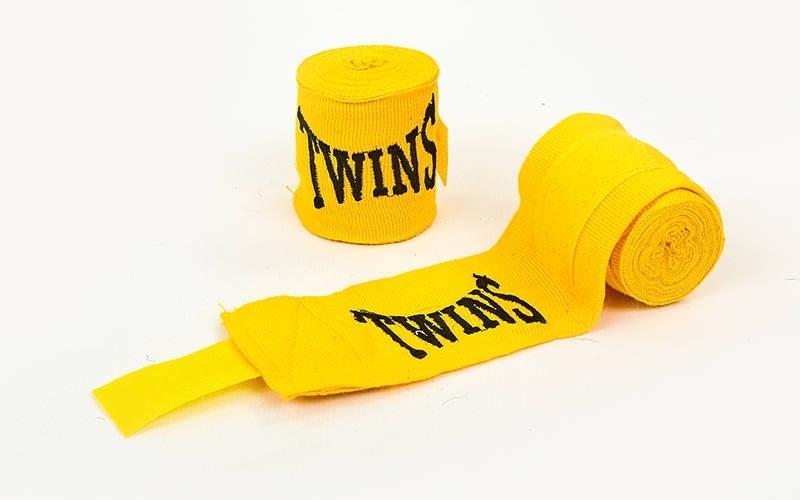 Бинты боксерские 3 м. (пара) TWINS MA-5466-3 (желтый)