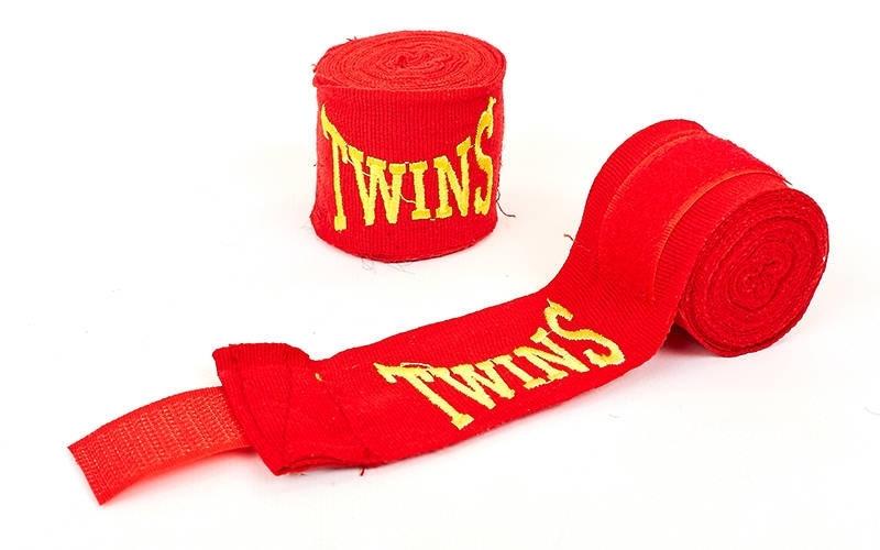 Бинты боксерские 3 м. (пара) TWINS MA-5466-3 (красный)