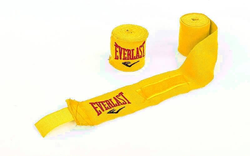 Бинты боксерские эластичные 3 м (пара) ELAST MA-5465-3 (желтый)