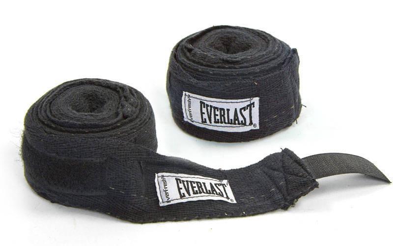 Бинты боксерские 3 м (пара) ELAST 4456R-108 (черный)