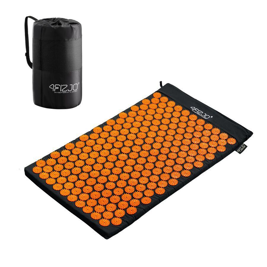 Коврик акупунктурный 4FIZJO Аппликатор Кузнецова 72 x 42 см 4FJ0041 Black-Orange SKL41-227763