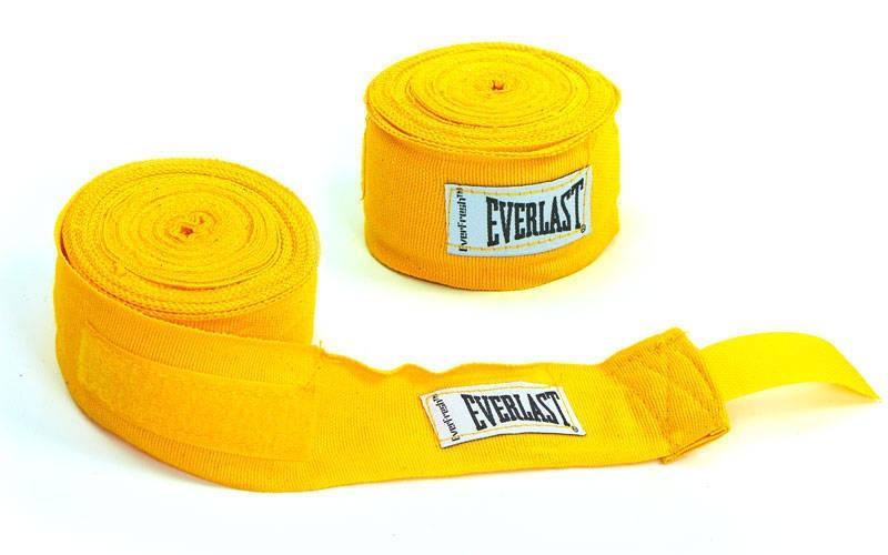 Бинты боксерские 3 м (пара) ELAST 4456R-108 (желтый)