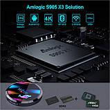 Смарт ТВ бокс H96 Max X3  Amlogic S905X3 4Gb/64Gb Android 9.0., фото 3