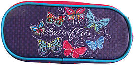 Школьный пенал-косметичка широкий Бабочки