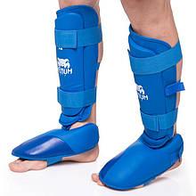 Защита голени с футами для единоборств VENUM, PU, р-р S-XL, синий (MA-5857-B)