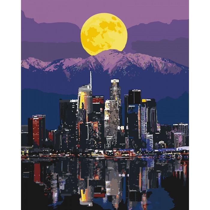 Картина по номерам Огни мегаполиса ТМ Идейка 40 х 50 см КНО3565