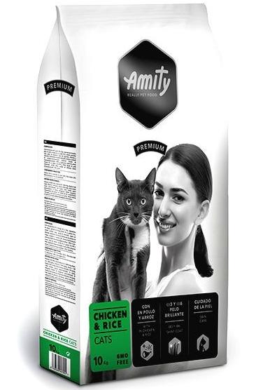 Аміті AMITY Chicken & Rice сухий корм для дорослих кішок з куркою та рисом, 10 кг