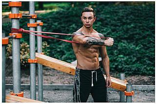 Эспандер-петля (резинка для фитнеса и спорта) 4FIZJO Power Band 45 мм 26-36 кг 4FJ1080, фото 3