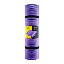 Коврик (мат) для йоги и фитнеса 4FIZJO NBR 1 см 4FJ0016 Violet, фото 2