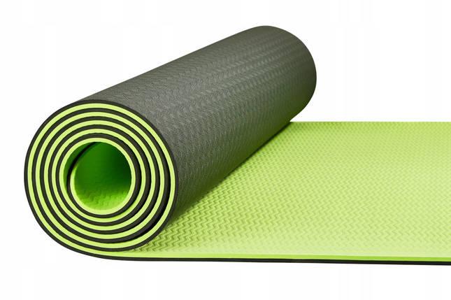 Килимок (мат) для йоги та фітнесу 4FIZJO TPE 6 мм 4FJ0032 Black/Green, фото 2