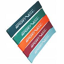Резинка для фитнеса и спорта (лента-эспандер) SportVida Mini Power Band 5 шт 0-25 кг SV-HK0206, фото 2