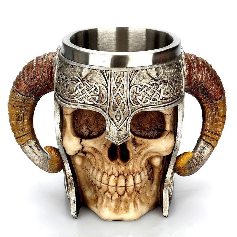 Кружка Чашка Бокал Викинг Воин Сатана 3D Нержавеющая Сталь