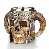 Кружка Чашка Бокал Викинг Воин Сатана 3D Нержавеющая Сталь, фото 2