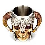 Кружка Чашка Бокал Викинг Воин Сатана 3D Нержавеющая Сталь, фото 3