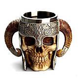 Кружка Чашка Бокал Викинг Воин Сатана 3D Нержавеющая Сталь, фото 4