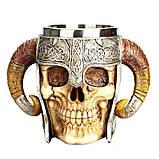 Кружка Чашка Бокал Викинг Воин Сатана 3D Нержавеющая Сталь, фото 5