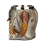 Кружка Чашка Бокал Викинг Воин Сатана 3D Нержавеющая Сталь, фото 7