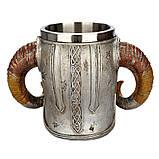 Кружка Чашка Бокал Викинг Воин Сатана 3D Нержавеющая Сталь, фото 8