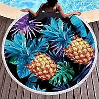 """Круглий пляжний килимок """"Ананас"""", фото 1"""