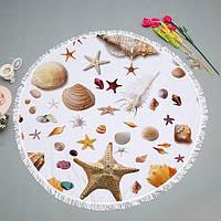 """Круглий пляжний килимок """"Мушля"""", фото 1"""