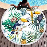 """Круглий пляжний килимок """"Тукан"""", фото 1"""