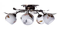 Люстра потолочная на 5 плафонов Sunlight ST120 Золотистый с белым 748055, КОД: 1286769