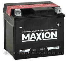 Аккумулятор мото MAXION AGM YTX 4L-BS (12V, 3A) 50A 113x70x85 мм