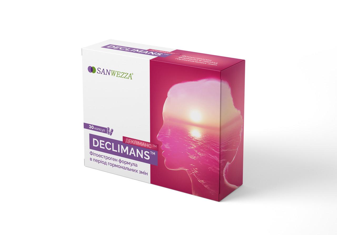 Деклиманс  3 упаковки комплекс фитоэстрогенов при климаксе и менопаузе 30 капсул