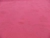 Ткань тисненный шифон ярко-розовый