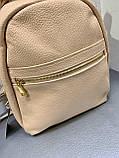 Кожаный женский городской рюкзак, фото 2