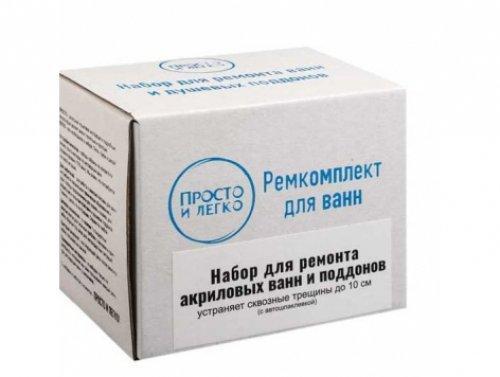Ремкомплект для устранения сквозных дыр и трещин на ванне с автошпаклевкой ТМ Просто и Легко 50г SKL12-131774