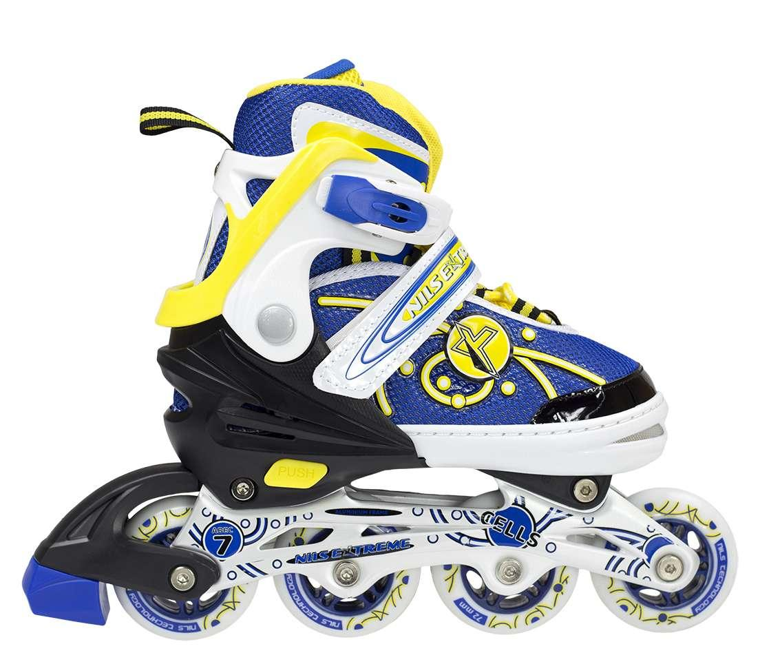 Роликовые коньки Nils Extreme желтые Size 31-34 NA1152A SKL41-227291