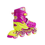 Роликовые коньки Nils Extreme розовые Size 39-42 NA1005A SKL41-227275, фото 5