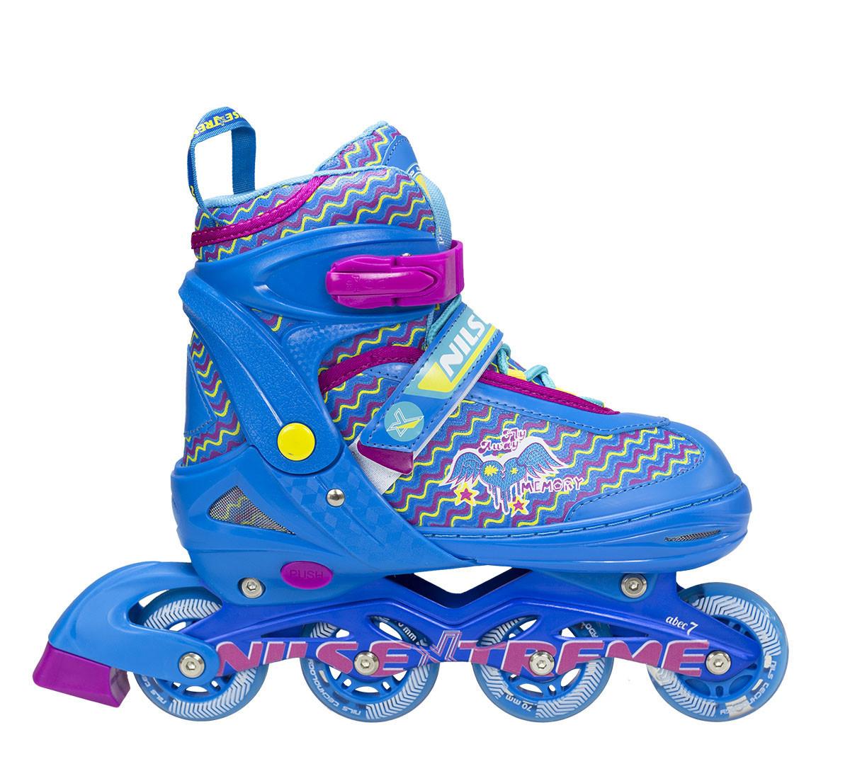 Роликовые коньки Nils Extreme синие Size 30-33 NJ4613A SKL41-227308